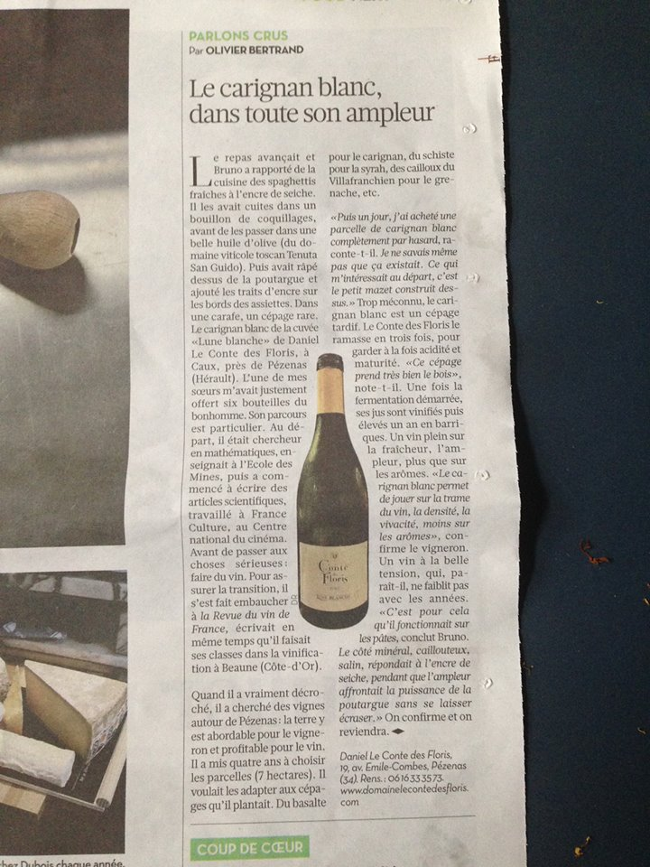 article liberation carignan blanc